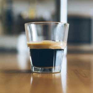 Caffee in a little glass
